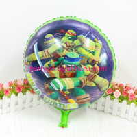 New arrival 45*45 cm Teenage mutant ninja turtles balloon birthday day for party decoration aluminum balloons
