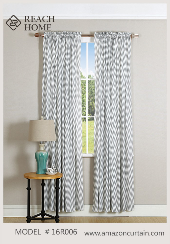 Blackout Fabric of Nice Lined Fabric Printed Curtain To Protection Sunlight