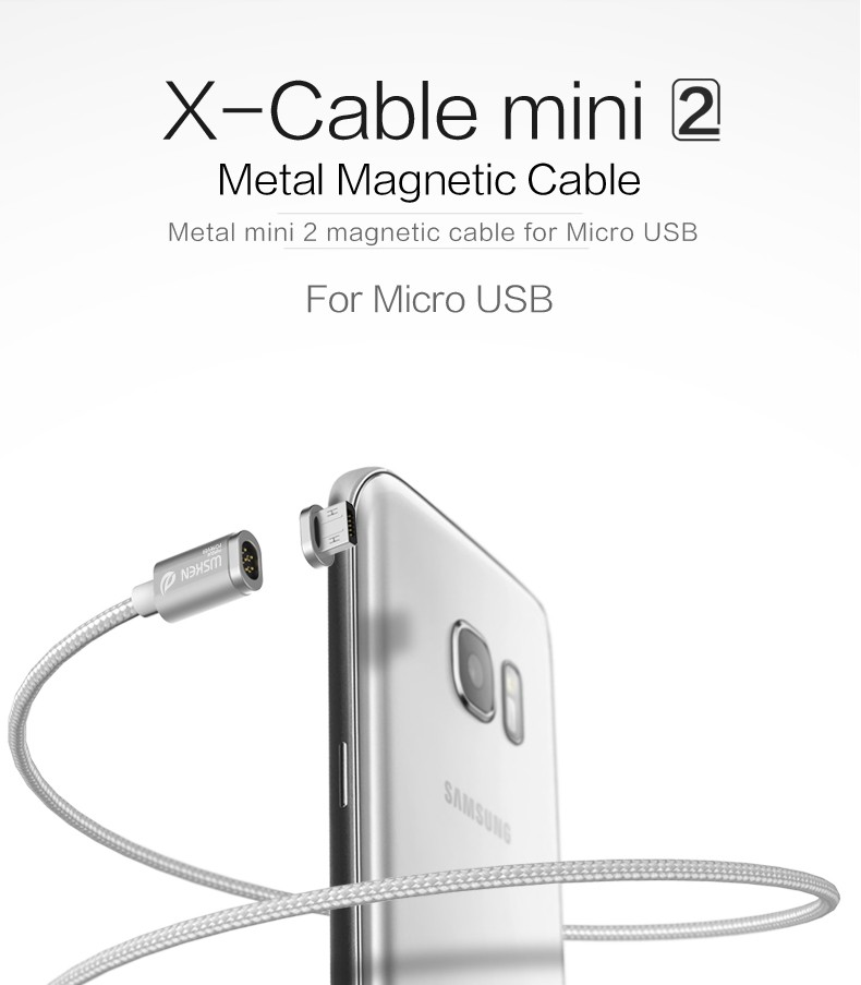 Wsken X- Cable Mini2 Nylon Braided line Magnetic Data Micro USB Cable