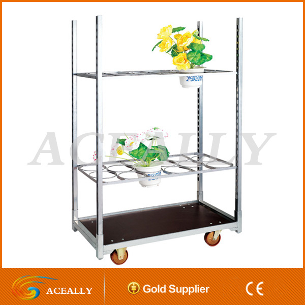 Heavy Duty Transportation Metal Outdoor Flower Cart