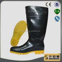 black PVC boots with steel toe for industry