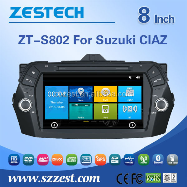 For Suzuki CIAZ Autoradio with GPS Am / Fm radios audio multimidea player BT Phone book DTV SWC