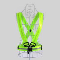 Night Safety LED Flashing Light Reflective Jogging Running Vest