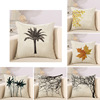 Home leaves dry cotton linen pillow office sleep Print Linen Cushion Plain throw Pillow Cover