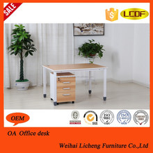 Double sides wooden color office desk /office furniture