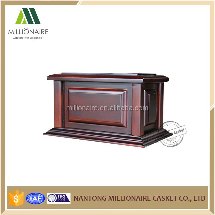 Wholesale cherry wooden urn cremation for ashes casket