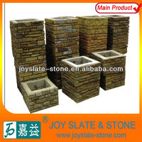 ledgestone natural decorative stone gate post