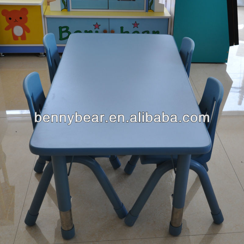Kindergarten Furniture Adjustable Height Kids Table And Chair Set