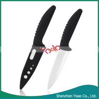 "5"" Curved Handle Chinese Knife , Ceramic Safety Kitchen Knife"