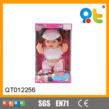 Fashion plastic 12inch new born child love dolls