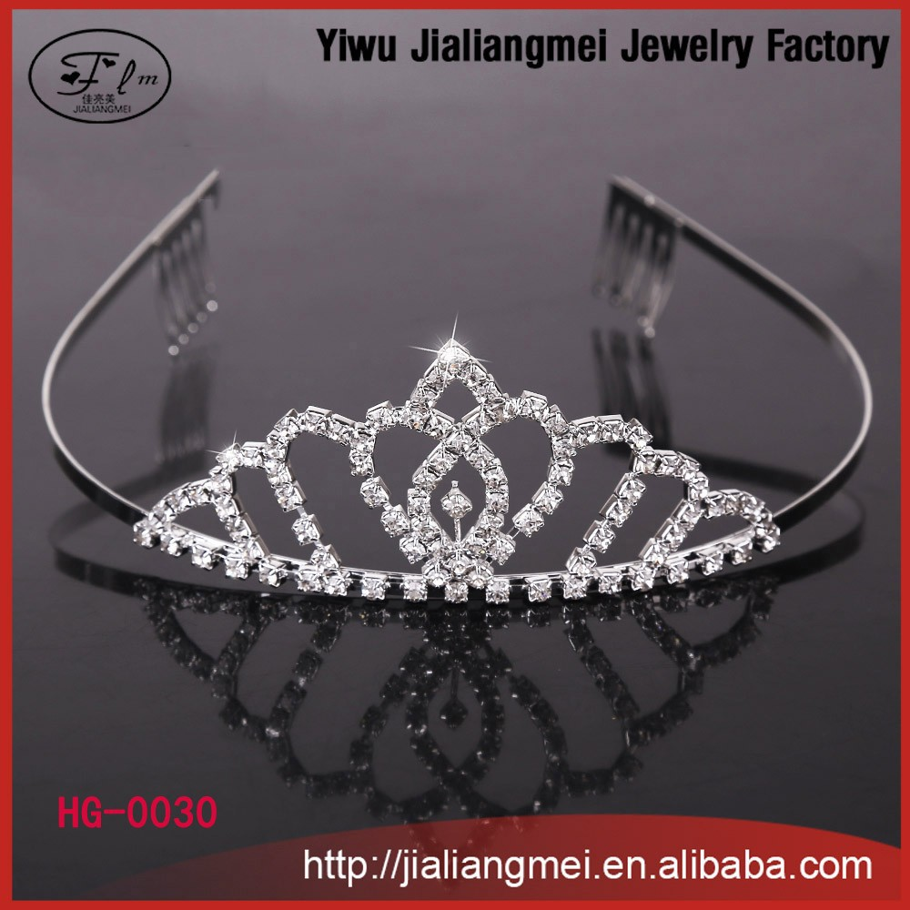 Elegant sparkling crystal bridal wedding crown decorative tiaras with hair comb