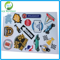 Fancy elegant design paper decoration/ bathroom floor sticker/stricker printing with best price