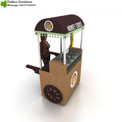Customized mobile cupcake cart restaurants food kiosk crepe hot dog cart for sale