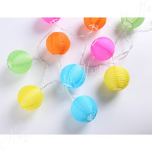 colorful led paper lantern with light string of paper lantern light chains