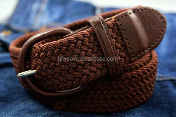 Custom braided elastic stretch belt