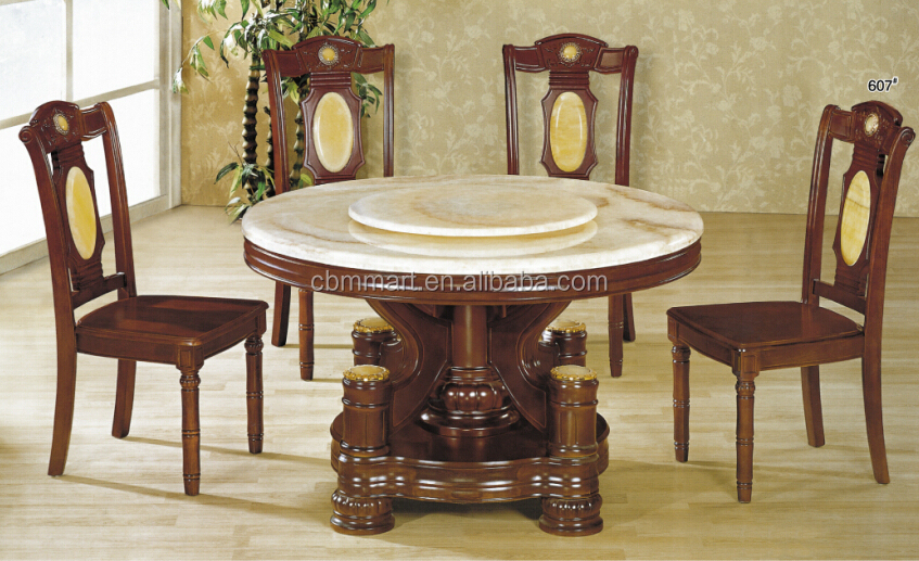 Dining Table Marble Malaysian Wood Dining Table Sets
