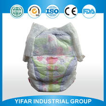 Wholesale new design product colorful backsheet good absorbency printed swimming baby diaper manufactured in China