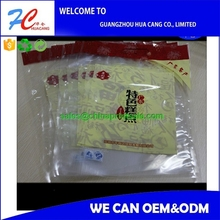 high quality snack packaging plastic food bag with zipper 100g