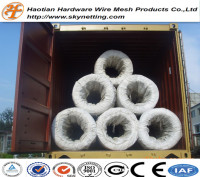 electro galvanized hot dip galvanized wire Galvanized Banding Wire zinc coating wire