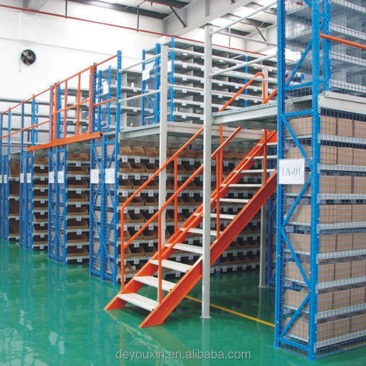 Industrial shelving mezzanine floor <strong>rack</strong> with i beam and plywood for business industrial and shelving <strong>rack</strong> by <strong>rack</strong>