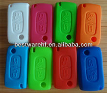 2015 high quality silicone protective car key shell for PEUGEOT