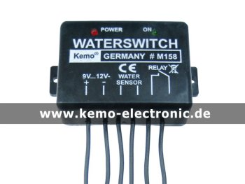 Waterswitch 9 - 12 V/DC [M158] Kemo elektronisch