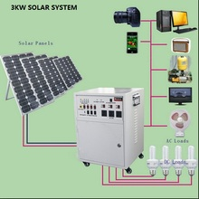 3000w home solar panel system power 200wh lower price from manufacturer only