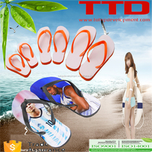 Hot sell custom made sublimation printing blank rubber flip flops