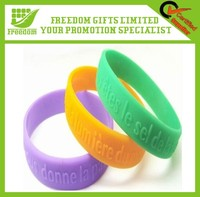 Custom Embossed Silicone Wristband