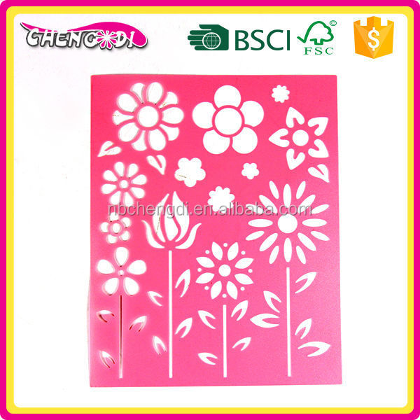 Lovely Plastic Stencil For Flower