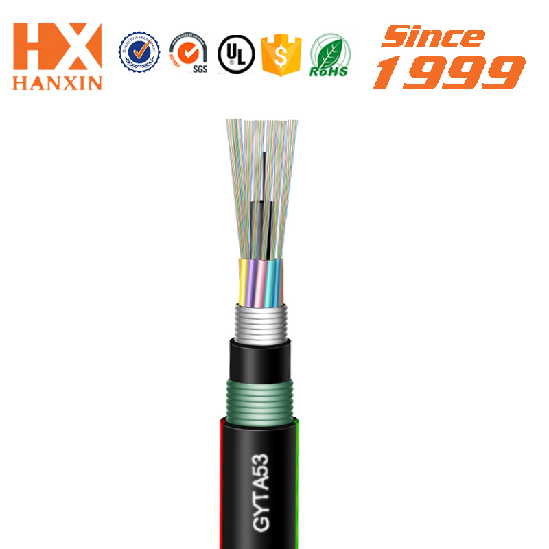 high quality outdoor Double sheathed GYTA53 fiber optic cable