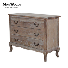 solid oak furniture antique style 3 drawer dresser