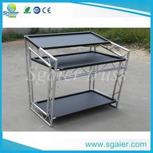 factory price hot-sale indoor music show customized aluminum dj table on sale