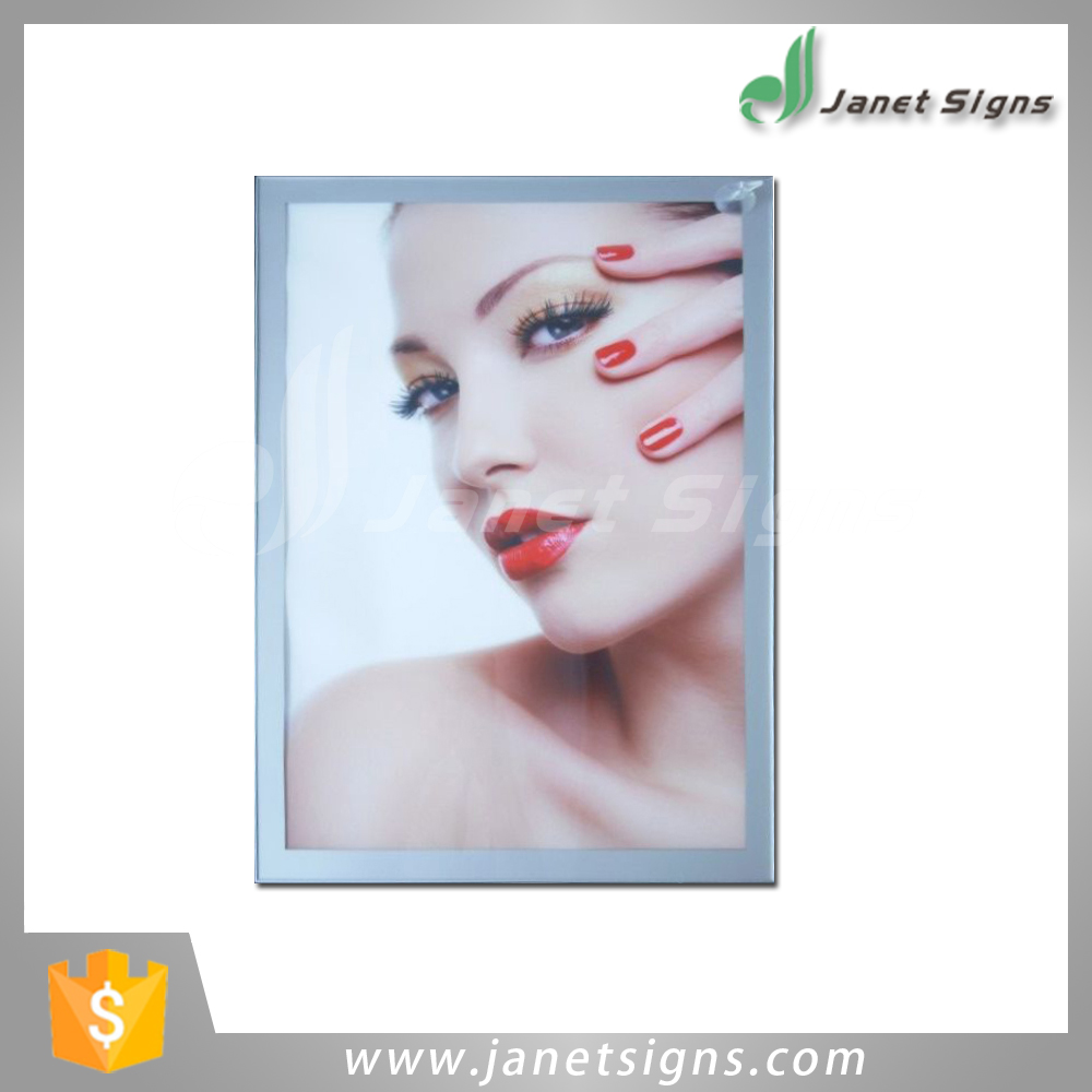 Alibaba Wholesale high quality Aluminum frame magnetic led super slim light boxes