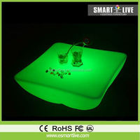 Wholesale Waterproof Color Change PE Plastic Chair Stool tables chairs 4d led light bar