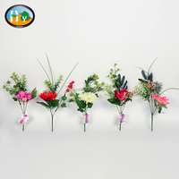 Small artificial flower bouquet silk bush flower cheap artificial flowers wholesale