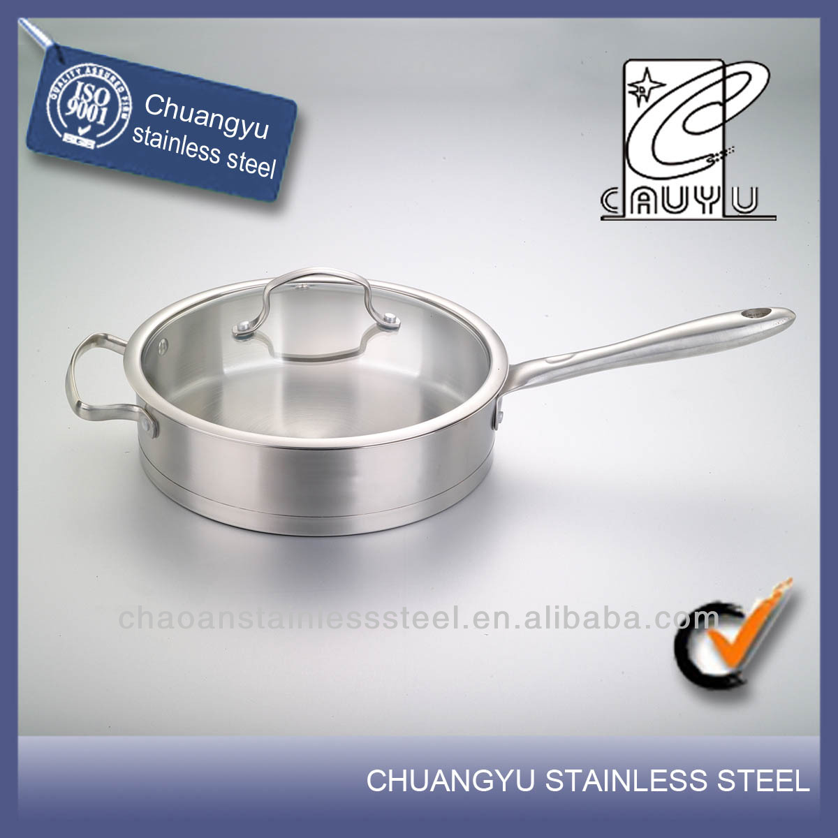 New product stainless steel large fry pan