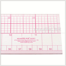 Kearing craft fashion design ruler 60cm & 24'' plastic grading ruler sandwich line pattern making rulers