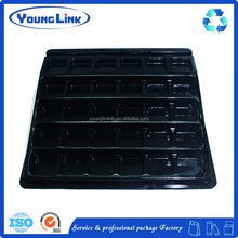 Black pvc plastic blister cosmetic packaging