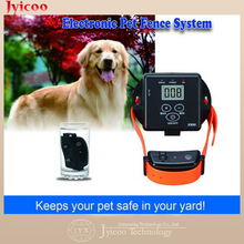JY-X800 waterproof remote control device Dog Training electronic fence system with vibrating shock collar up to over 1.2 acre