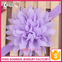 Factory price fancy design elastic Infant lace flower headband
