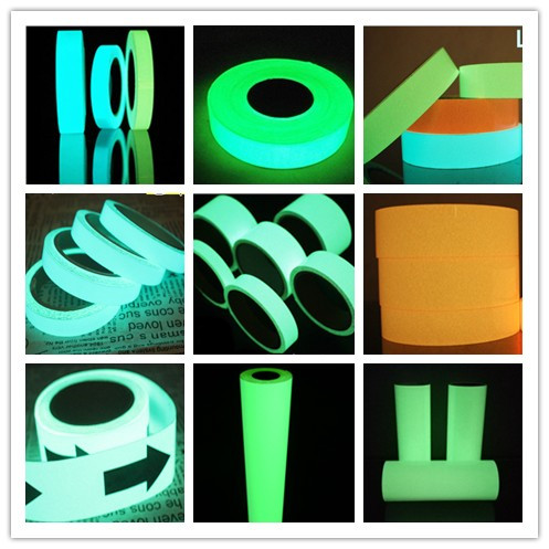 night glow pvc cuttable printable self-adhesive rigid photoluminescent glow in the dark plastic board acrylic vinyl sheet film