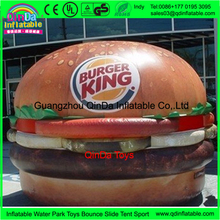 Inflatable advertising burger shaped , inflatable hamburger cheeseburger for promotion