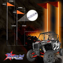 Quick disconnect RGB led whips light/antenna whips light/buggy whip flags for ATV UTV from manufacturer