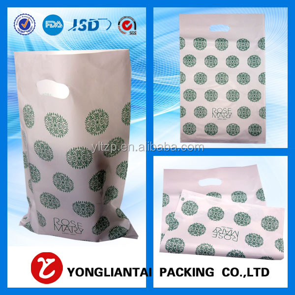 LDPE shopping carry bag biodegradable plastic carry bags for cloth