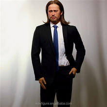 Celebrity Lifesize Silicone Wax Figure Pitt