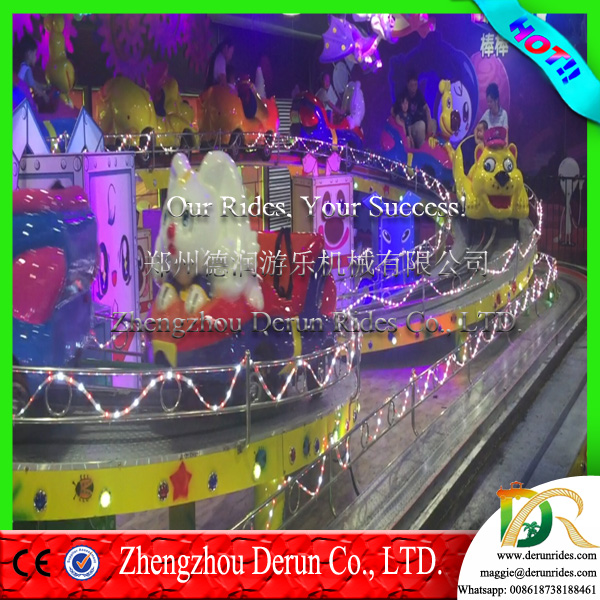 China outdoor family games amusement roller coaster Mini Shuttle Bus Rides playground equipment for sale