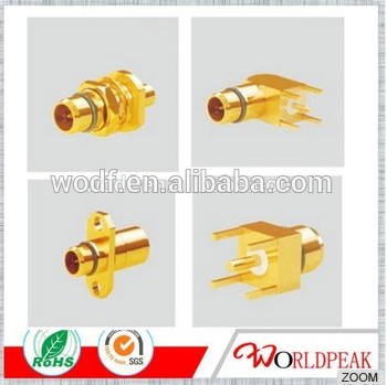 high quality MCX/SMP/SMA/2.4mm/2.92mm/3.5mm/SMB/BNC/L29/UHF/FME/N/TNC BMA male flange mount rf coax connector