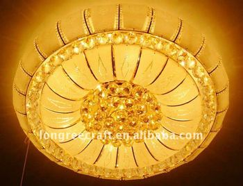 Grand Crystal Flush Mount Recessed Ceiling Lights