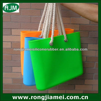 Waterproof beach bag,fashion silicone bag for girls